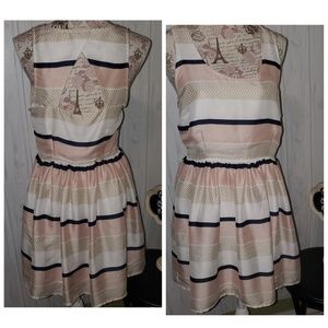Jack. By bb Dakota blush navy ivory swing dress 8